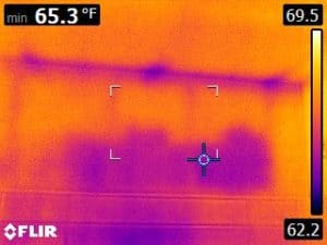 MISSING INSULATION OVER A SHOWER – NEW HOME INSPECTION